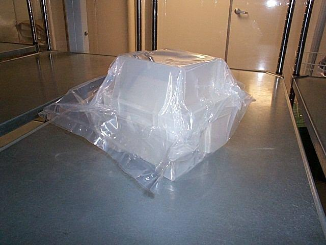 Wafer boat in clean poly bag (Photo)